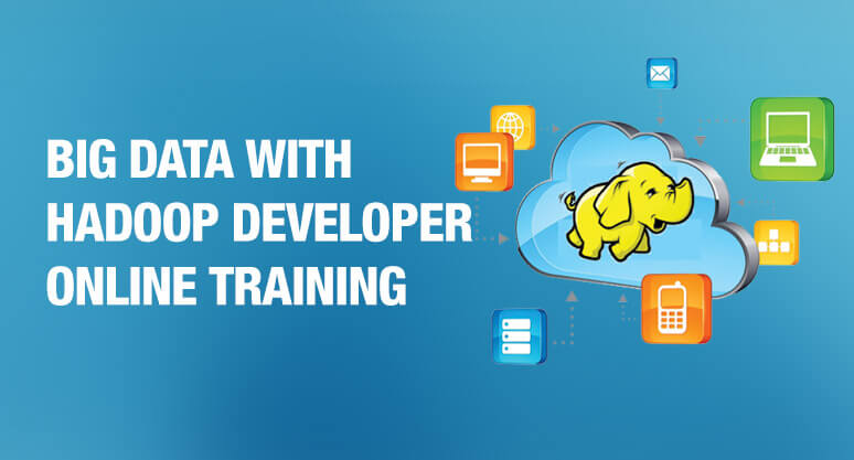 Banner Image with the text big data hadoop developer online training