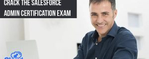 Person attending salesforce admin certification exam with a smile