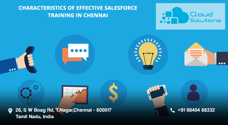 Attributes of effective salesforce training showcased in image